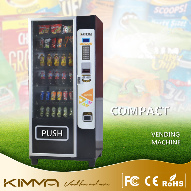 LCD display nescafe coffee vending machine with card reader
