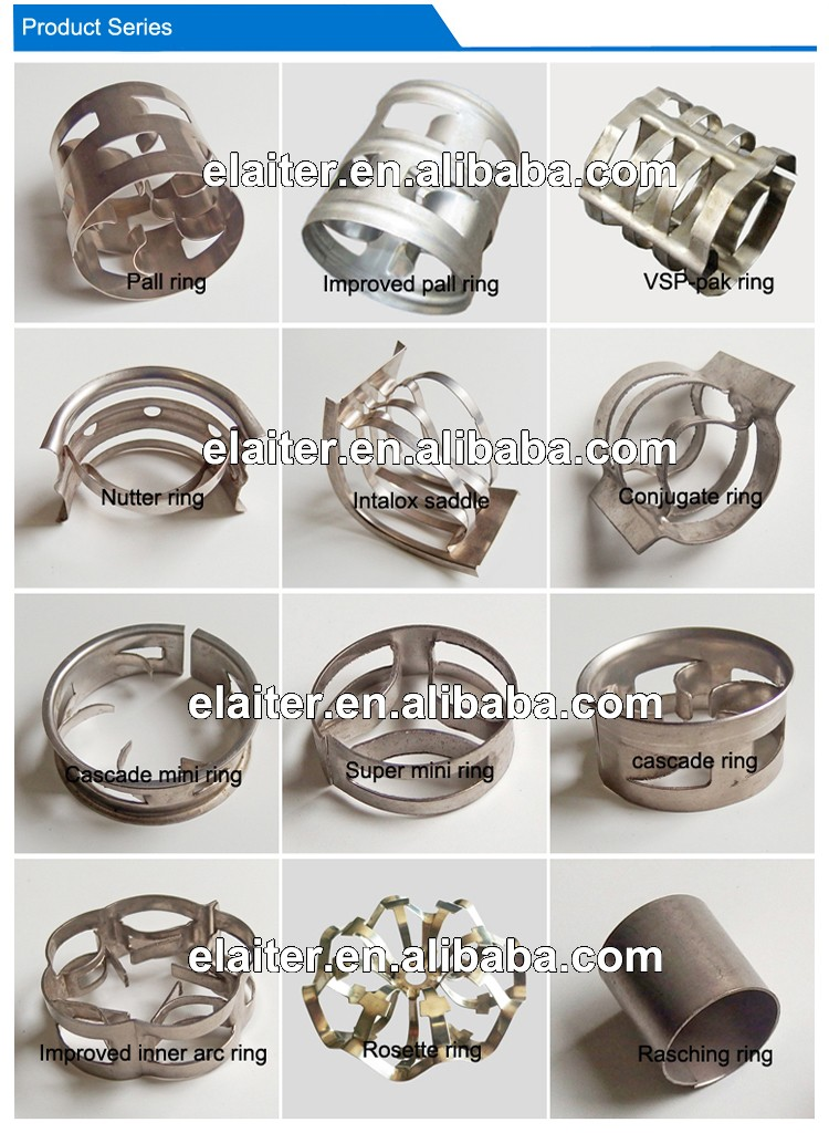 16/25/38/50/76/100mm carbon steel & stainless steel 304 304L 316 316L 410 metal/metallic pall ring