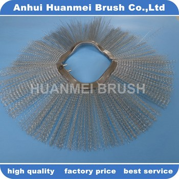 Galvanized Steel Wire Cleaning Brush For Sliding Loader
