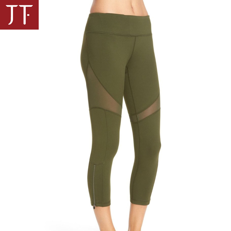 Women custom Slimming Capri Running Tights sexy sports pants fitness yoga leggings