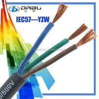 Professional Test 300/500V 57(YZW) wire/cable 12AWG For Outdoor Equipment