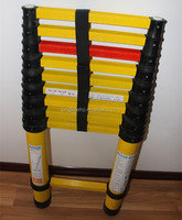 Factory supply 2.4m 3.8m GRP FRP Fiberglass telescopic ladder with high quality