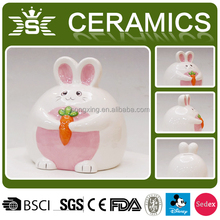 fatty lovely rabbit ceramic animal coin bank,piggy bank