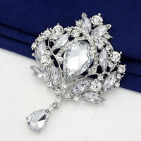 China Yiwu Jewelry Manufacturer Wholesale Wedding Bouquet fashion Rhinestone brooch
