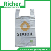 New style vest handle t shirt plastic bags for supermarket