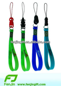 Customized silicone mobile phone strap