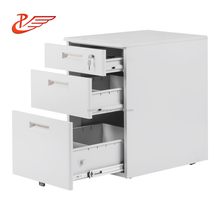Auto-lock Function Light Gray 3 Drawer Steel Mobile modern wooden filing cabinet