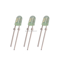 Rohs compliant high brightness green led 3mm oval
