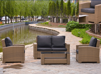 Outdoor sofa set rattan round garden furniture