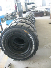 Polyurethane solid mining tyre for Caterpillar