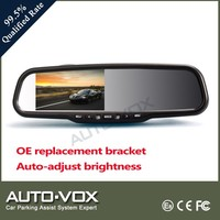 4.3 inch OEM car rearview mirror camera dvr