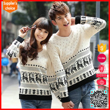 2017 christmas jumpers clothing fashion couple pullover sweater