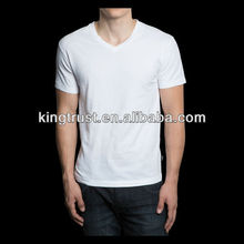 Top quality slim fit 100% cotton short sleeve mens fashion white t shirt