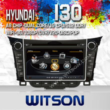 WITSON HYUNDAI Series i30 2012 cd mp3 player WITH A8 CHIPSET DUAL CORE 1080P V-20 DISC WIFI 3G INTERNET DVR SUPPORT