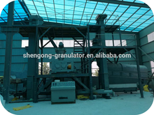 High pressure physical compaction dry fertilizer granulation equipment without changing chemical compostion