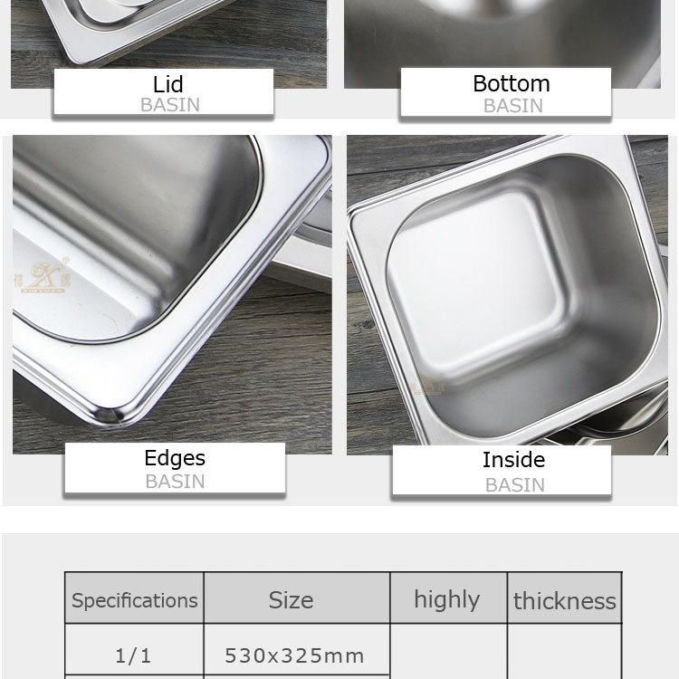 stainless steel food container FT-02809