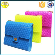 2015 Fashion ladies silicone bag/beautiful silicone lady hand bag non woven tote bag