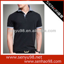 Short sleeves polo t shirts for 100% pique