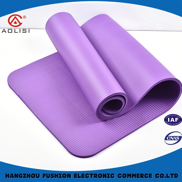 custom printing tpe yoga mat, 6mm yoga mat factory