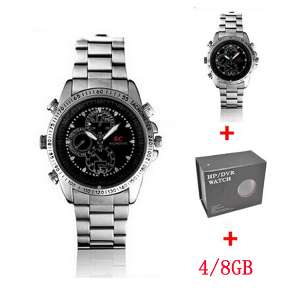 SC Metal Housing Mini Hidden Hand Camera Watch Wearable Camcorder