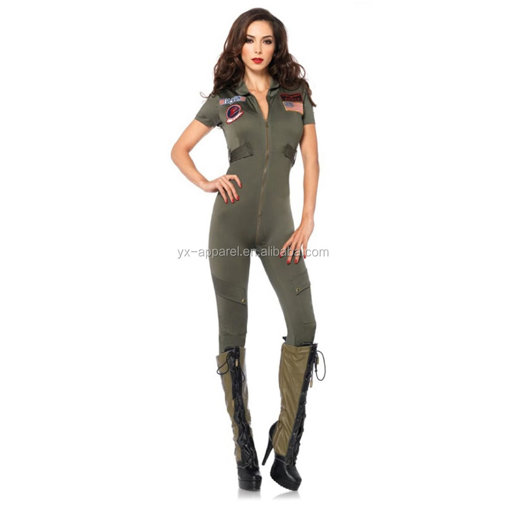 Halloween Suit Uniform Cosplay Sexy Women Army Adult Military Soldier Costume