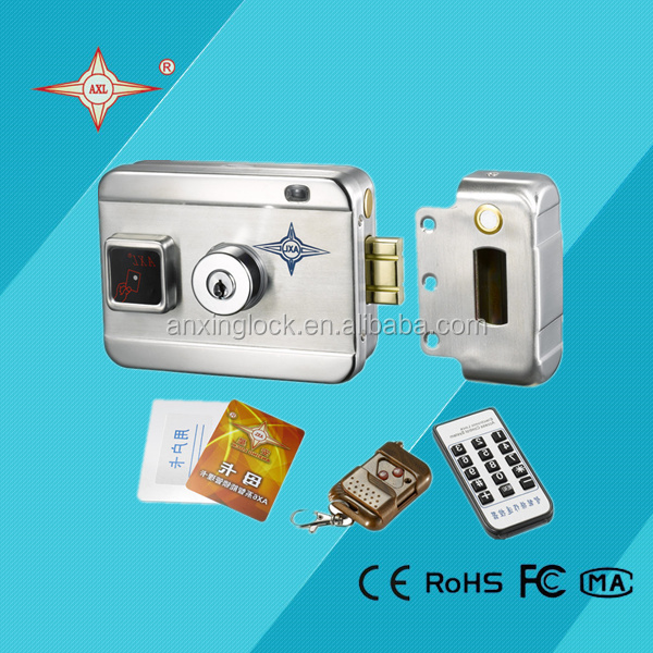 High quality automatic gate lock with built-in battery, remote control and wireless alarm