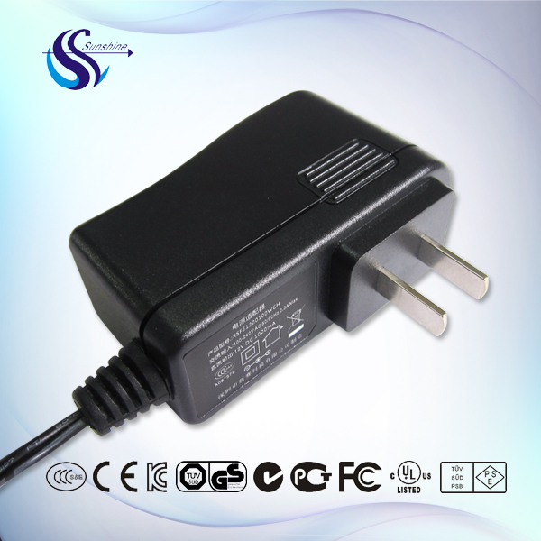 12W wall mount switching power AC/DC adapter