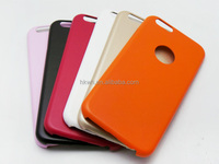 Pure Color 100% Matching PU Leather Slim TPU Cover Case For iphone 6 Skin Case