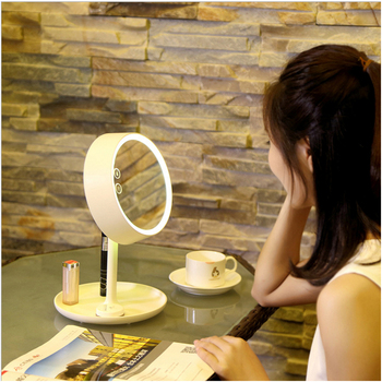 2017 Fashionable Design Round Makeup Light Mirror With 7 Colors LED Light