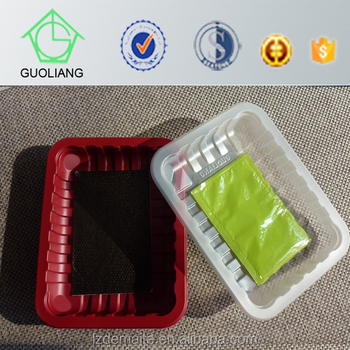 Custom Made Thermoformed Dairy Meat Fish Poultry Display Food Grade Plastic Tray For Food Packaging
