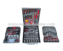 186pcs tool set with ratchet spanners in aluminium case (tool kit;tool set)