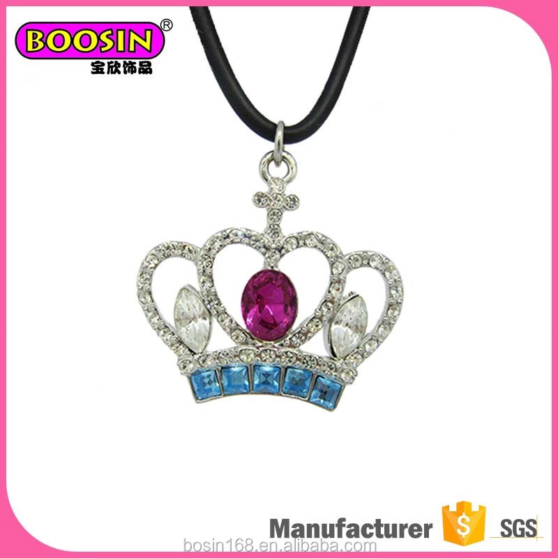 China Custom Fancy crystal jewelry cubic zirconia necklace