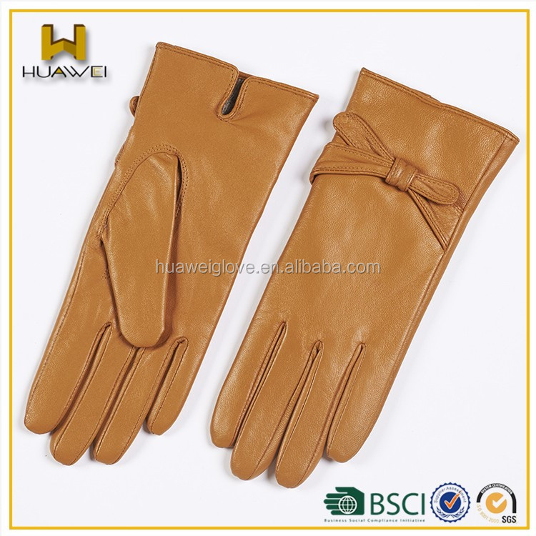 Sexy leather dress women colorful genuine sheepskin leather glove