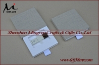 Empty Fabric Wedding USB Flash Drive Packaging Storage Gift Box