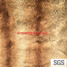 Stripe Print two tone fake fur fabric