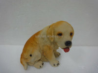 home decor yellow resin dog figurine hot sell in the USA