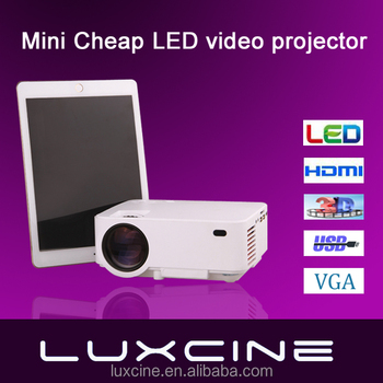 Luxcine LCD projector, HDMI, Earphone, AV, VGA, USB, SD Card Slot LED multimedia projector