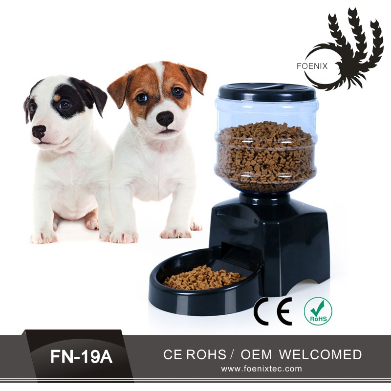 CE approved automatic programmed LCD 99 days enclosed cat feeder