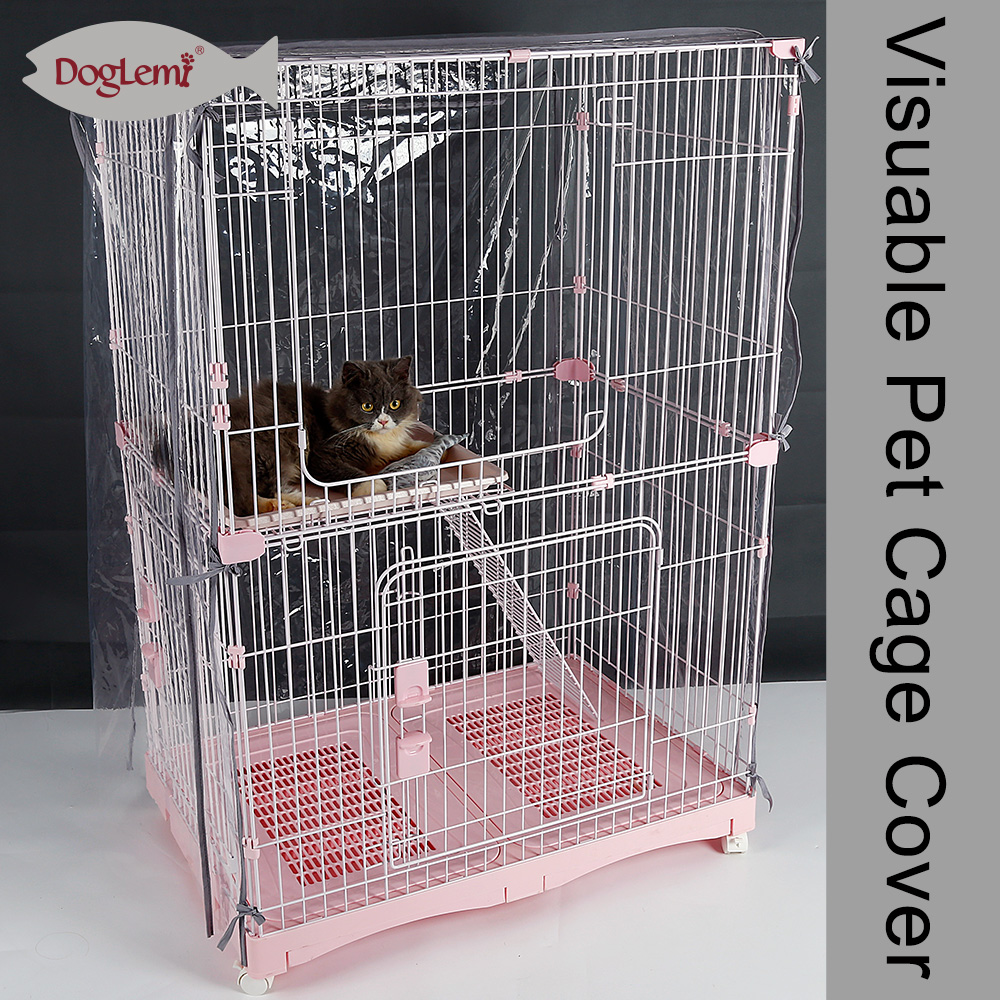 Durable Pet Dog Cage Cover Waterproof cat Transparent Crate Cover