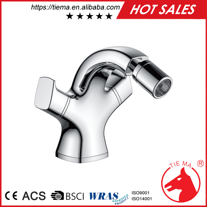 Online wholesale bathroom double handle bidet faucets