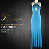 2016 Wholesale Popular Halter Beaded Fashion Evening Dress for Ladies