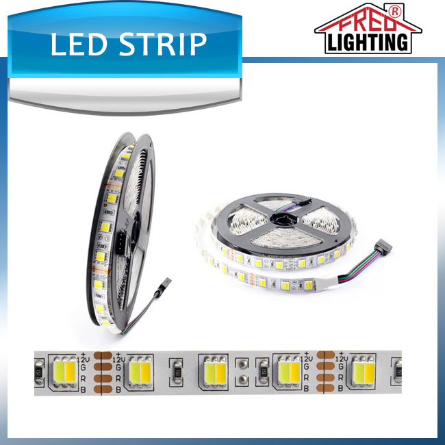 SMD 5050 Dual White ( Pure white + warm white )LED Strip Light Waterproof IP65 5M/roll 300leds DC 12V Flexible light