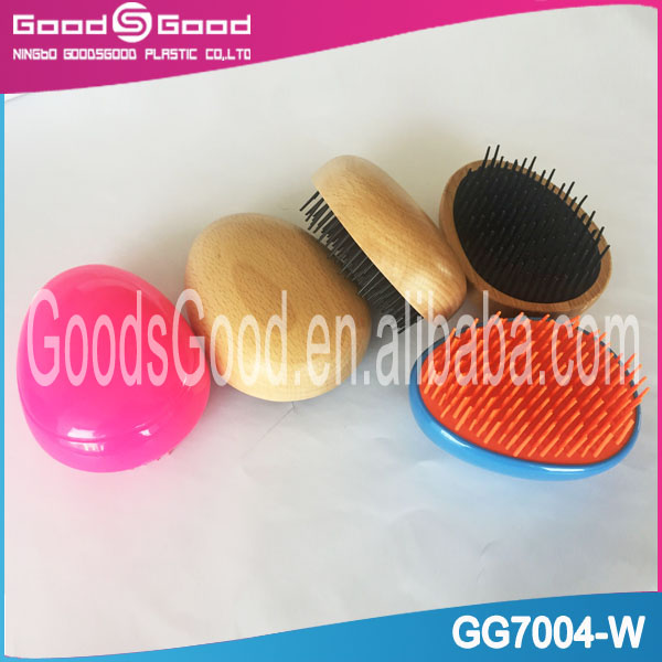 2017 new detangling wooden baby hair brush and comb set