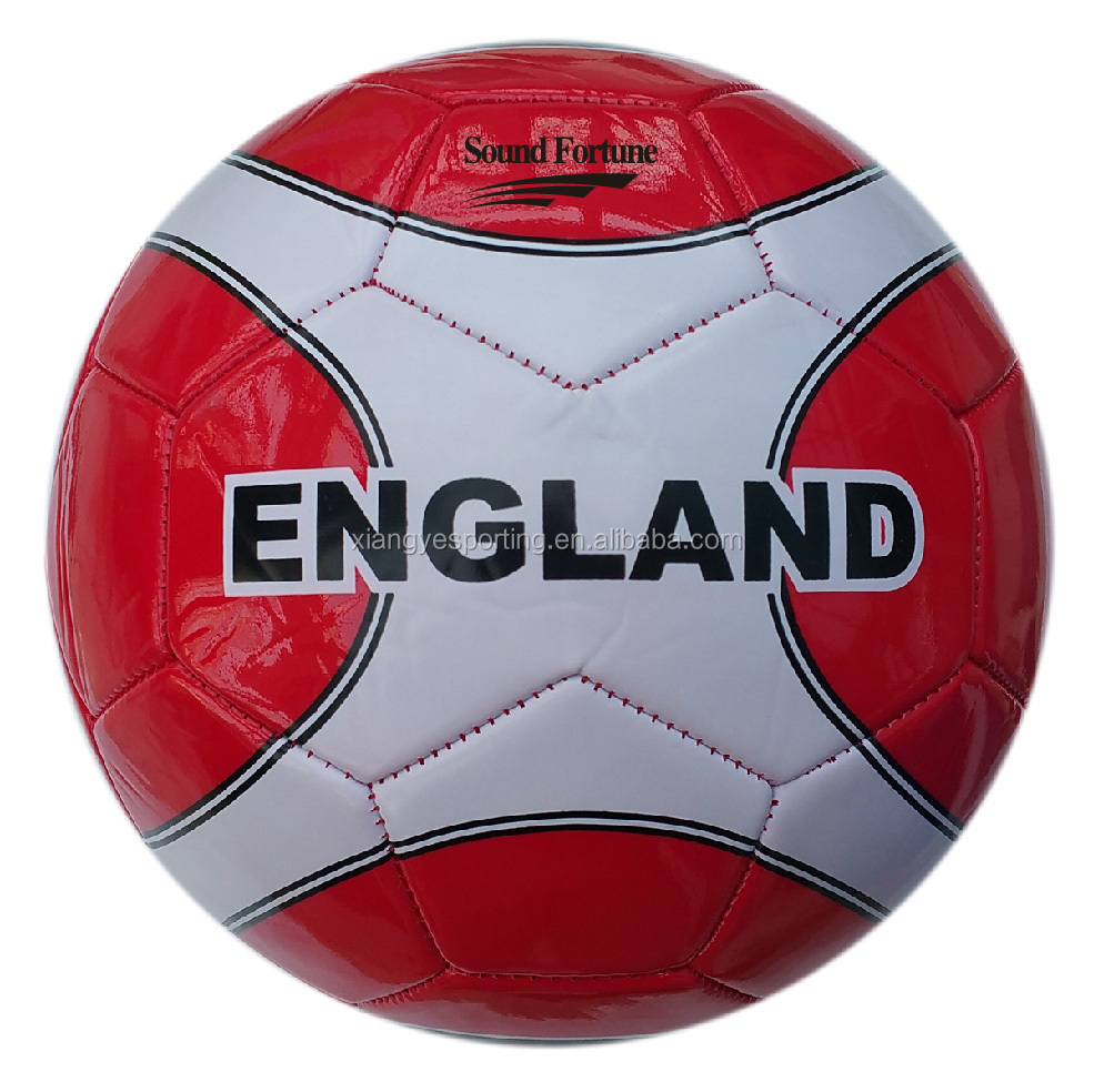 PVC machine stitched size 5 soccer ball/football in 2017