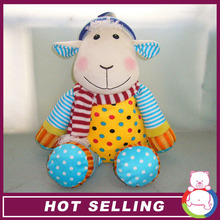 ICTI audit 2015 hot sales new design cute sheep promotional plush toy for wholesales