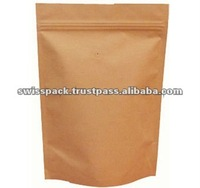 Kraft Paper Shopping Bag with zipper