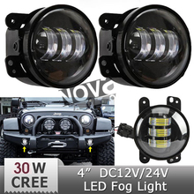 4'' Led Fog Light For Jeep Truck Motorcycle
