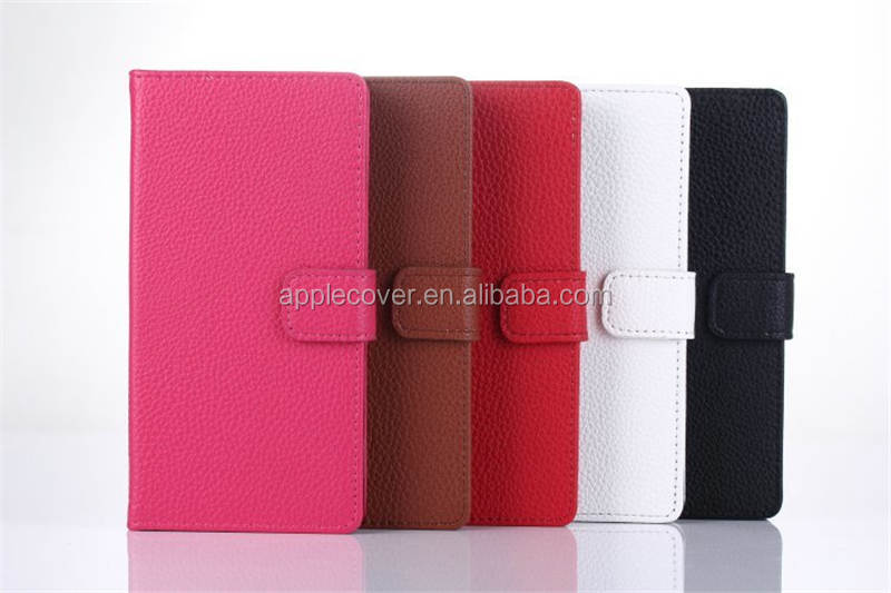 Litchi wallet case for Sony Xperia Z2 mobile phone