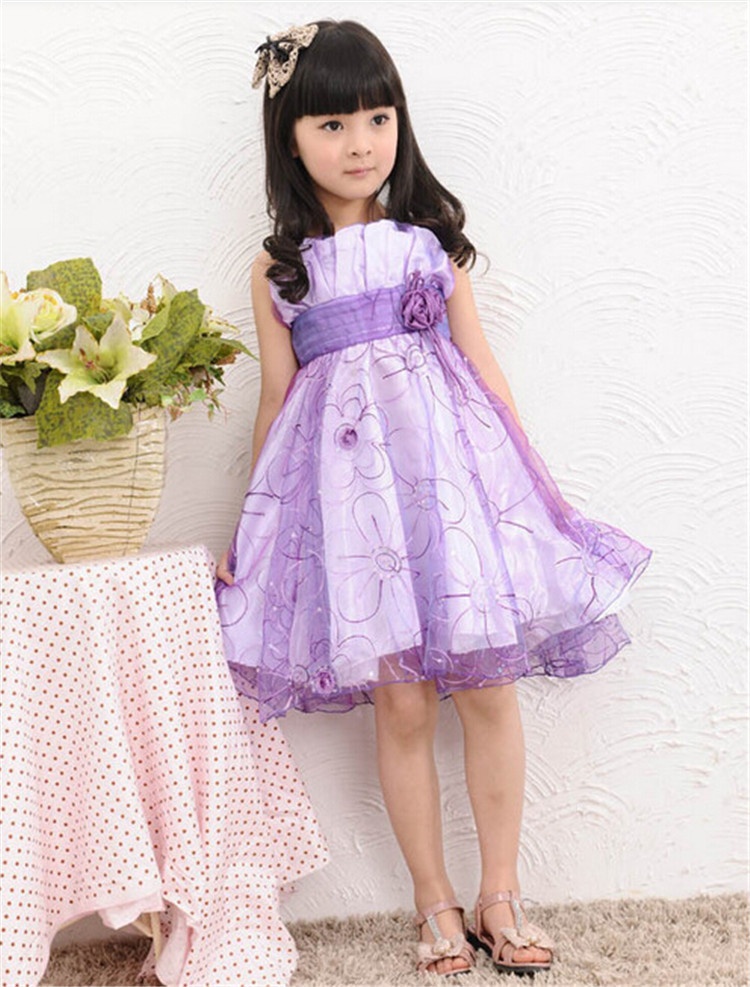 2015 Summer Baby Girl Dress Latest Dress Designs Wholesale Child Boutique Dress With Flower Teenage Girls