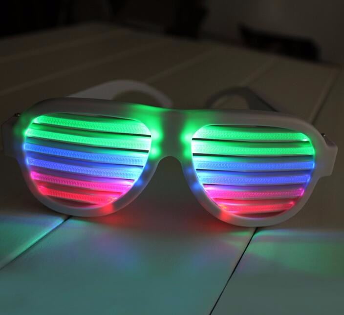 Colorful LED shutters glasses for Party